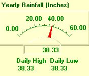 Yearly Rainfall Meter